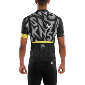 Skins Cycle Classic Kortærmet cykeltrøje Herrer hvid/sort